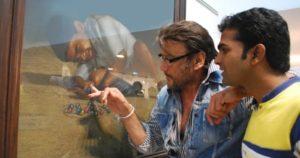 Shashikant Dhotre with Jackie Shroff