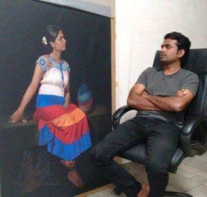 Shashikant Dhotre with Painting2